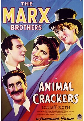 'Animal Crackers,' the Marx Brothers Musical Comedy