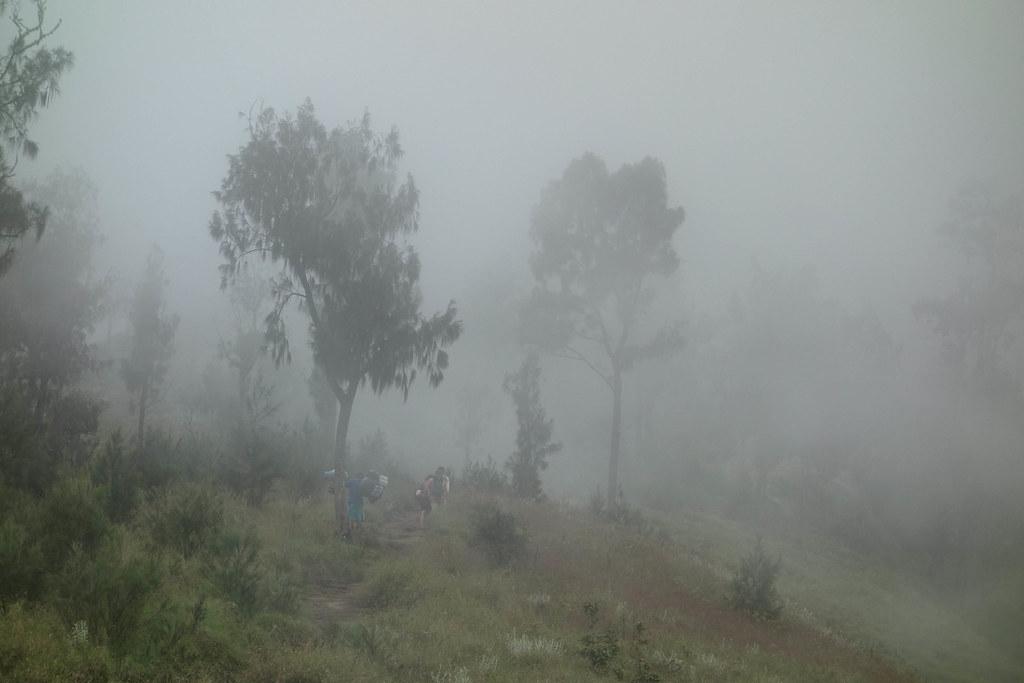 Rinjani - Jour 1 - Brouillard