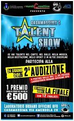 Locandina Seconda audizione talent
