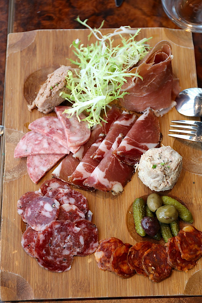 Cold Cuts: Prosciutto, Salame, Cotechino, Chorizo, Capocollo, Pork Rillette and Duck Rillette