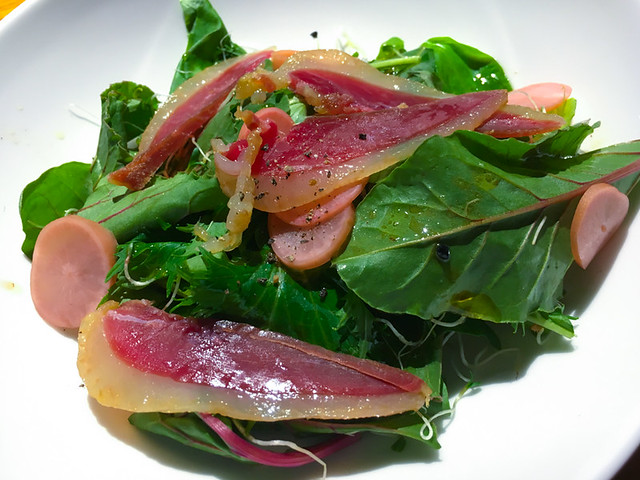 Coquo - Mixed Salad, Duck ham, pickle radish and anise vinaigrette