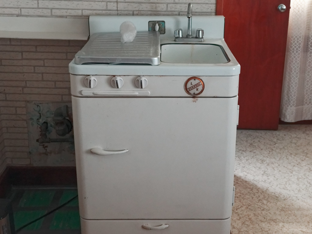 General L K Stove Fridge Sink Combo Early 1950s Vintage