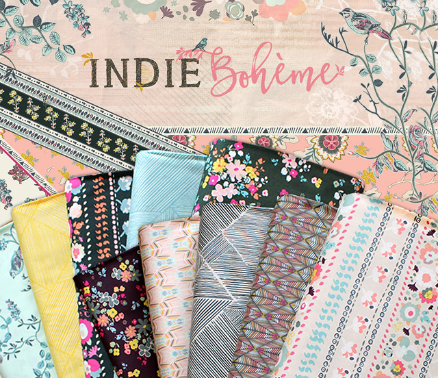 Art Gallery Fabrics Indie Boheme Collection by Pat Bravo