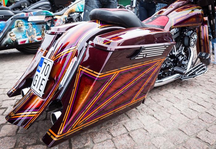 Lahti Helaride moottoripyörä bagger