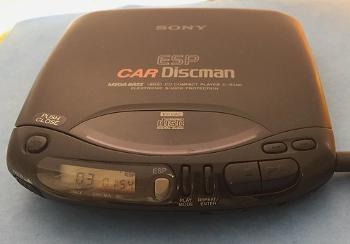 Sony Car Discman CD Player D-830K, Front, Power On