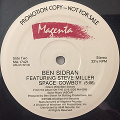 BEN SIDRAN:SPACE COWBOY(LABEL SIDE-B)