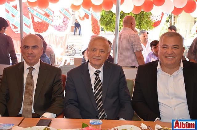 Alanya Müftüsü Mustafa Topal, Alanya Esnaf ve Sanatkarlar Odası Başkanı Nuri Demir ALTSO Başkanı Mehmet Şahin