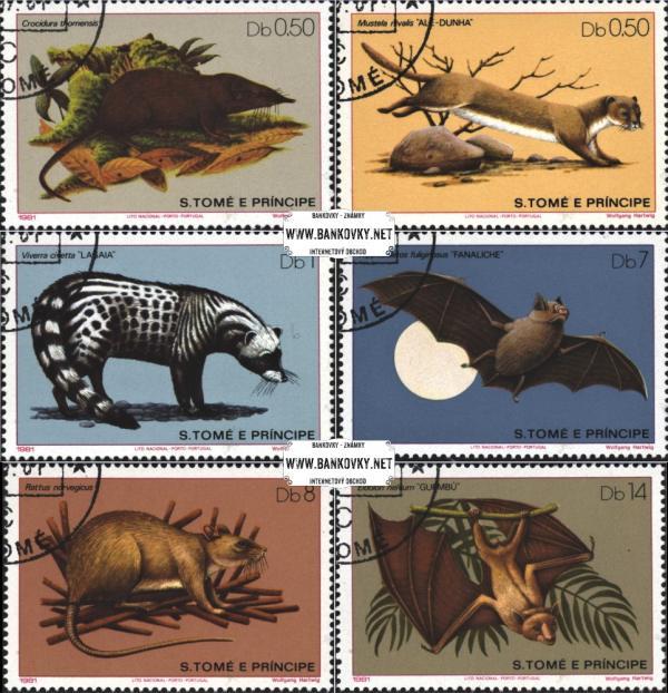 Známky Svätý Tomáš 1981 Cicavce, razítkovaná séria