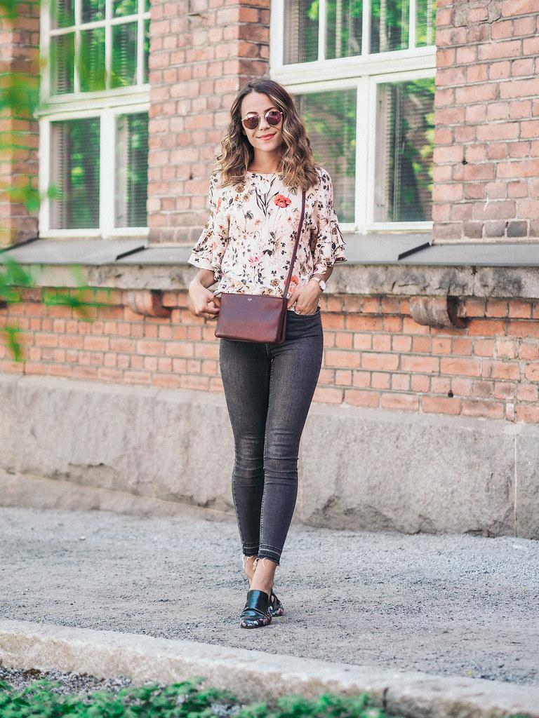 flower shirt zara celine bag summer (1 of 1)