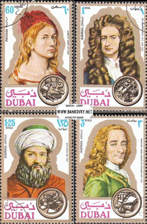 Známky Dubai 1971 Osobnosti, razítkovaná séria