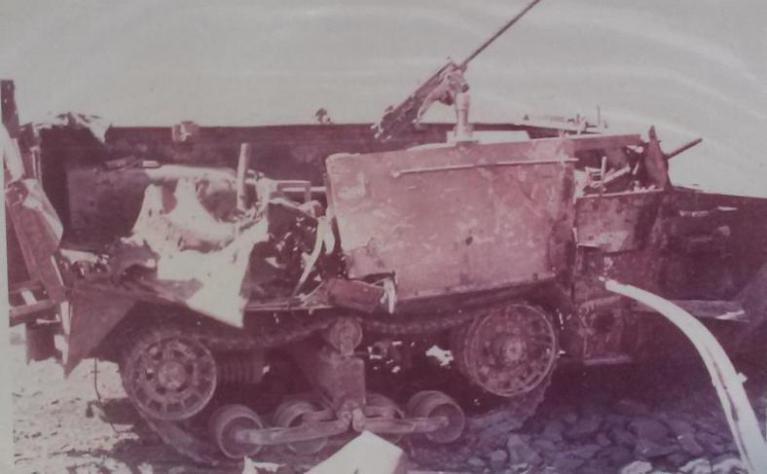 M3-halftrack-destroyed-tel-faher-1967-tff-1