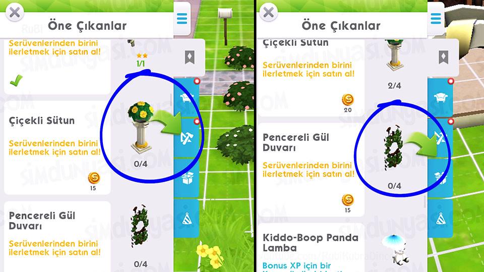 The Sims Mobile Evlenmek - Düğün Serüveni - Çiçekli Sütunlar ve Güllü Kafeslerle Süsle