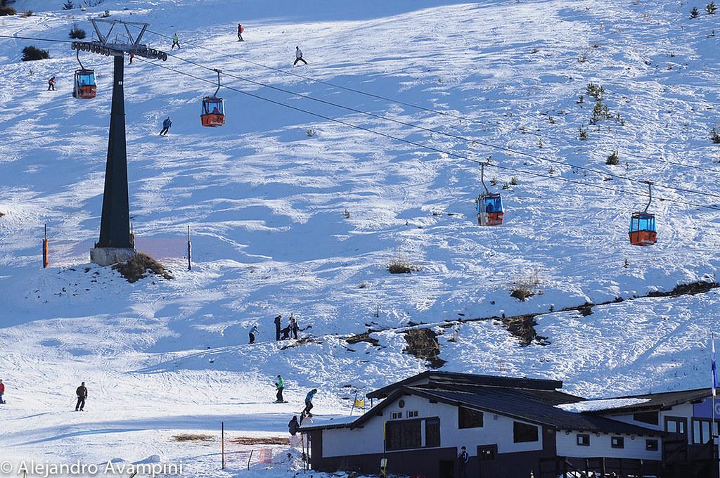 Centro de esqui en el Cerro Catedral