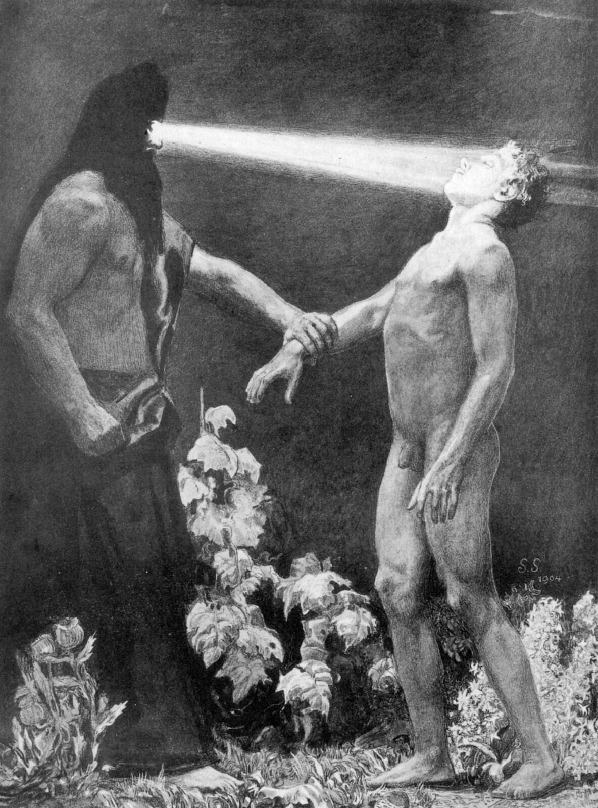 Sascha Schneider - Hypnotism, 1904
