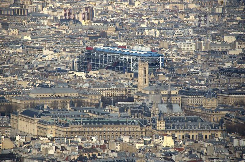 Beaubourg visto da Torre Montparnasse