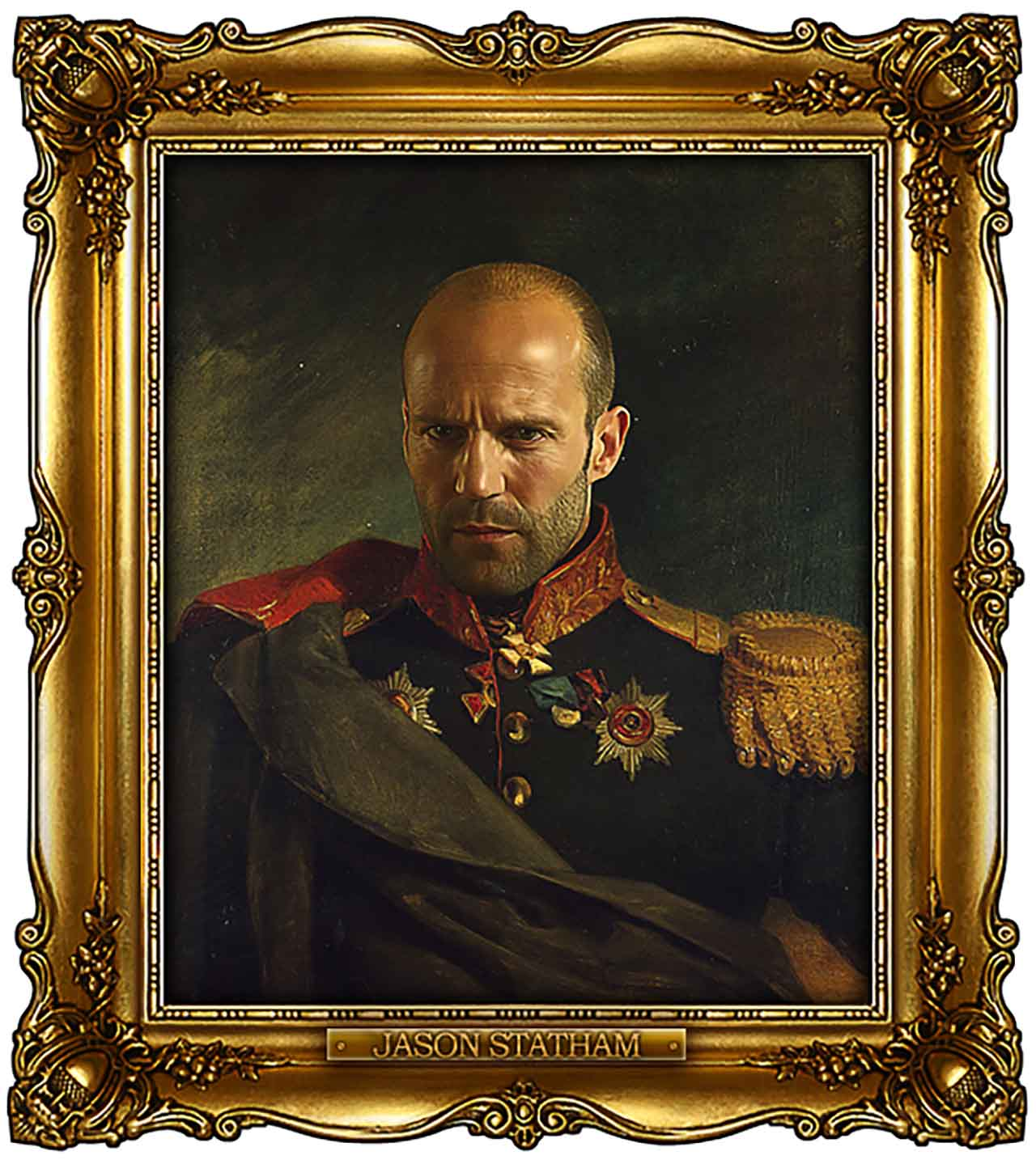 Artist Turns Famous Actors Into Russian Generals - Jason Statham