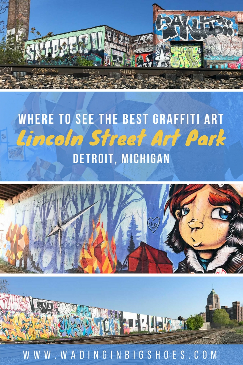 Tourism Cares For Detroit: Graffiti For A Cause (Wading in Big Shoes) // See how a world-renowned urban graffiti artist and hundreds of travel & tourism volunteers came together to create a tribute to two Detroit urban art legends
