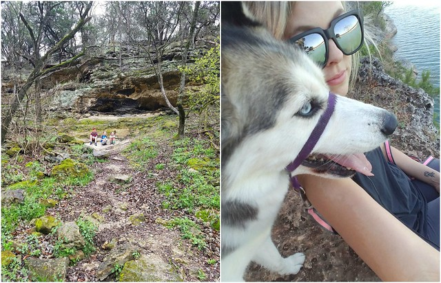 Hiking with husky