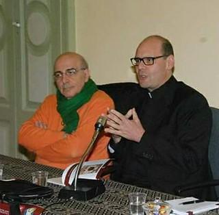 Don Nicola insieme al giornalista Enzo Quarto