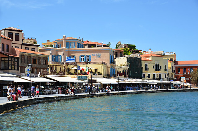 Seafront restaurants, Chania, Crete