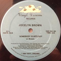 JOCELYN BROWN:SOMEBODY ELSE'S GUY(LABEL SIDE-A)