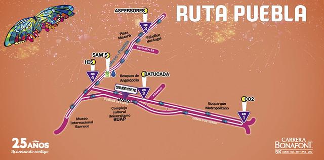 Ruta Carrera Bonafont 2017 Puebla
