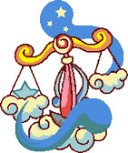Preview of Cross Stitch Patterns: Libra Scale (The Zodiac Series)
