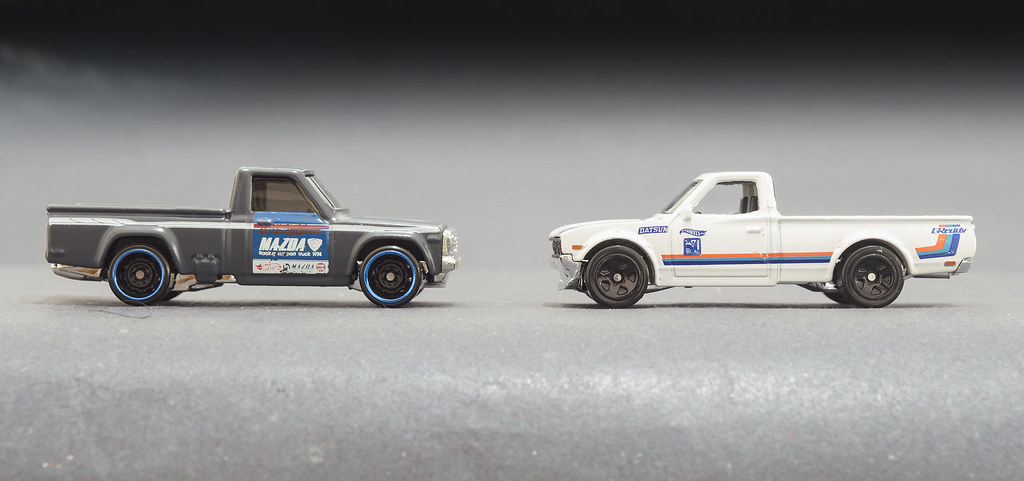 Hot Wheels Mad Mike S Mazda Repu And Datsun 620 It Has B Flickr