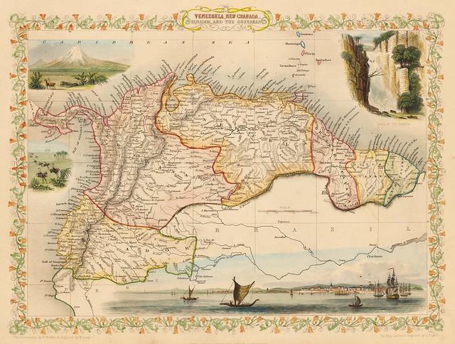 John Tallis - Venezuela, New Granada, Equador, and the Guayanas (1851)
