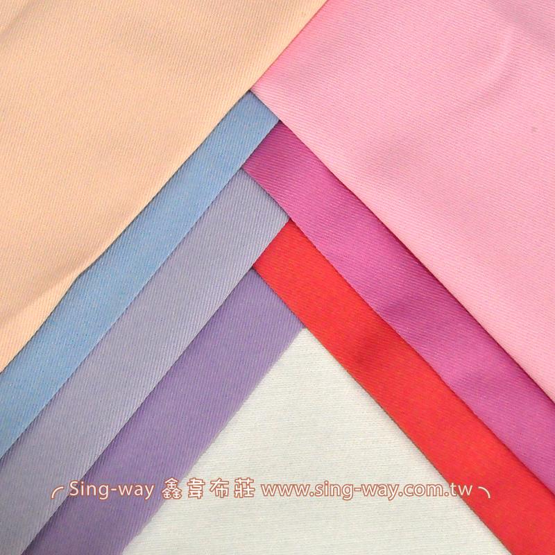 3C340057 紫紅藍色系 素面T/C 棉布 斜紋布