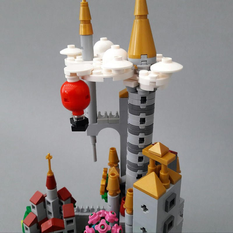 Micro Scale Castle in Glass Dome