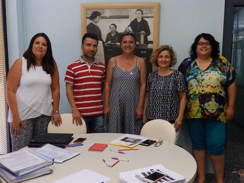 Jurada del concurso Maestra Dolores Velasco Por una educación en Igualdad premio Colegio Gloria Fuertes