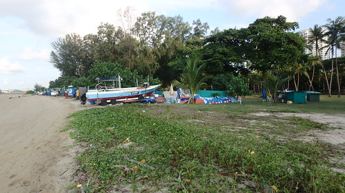 Boat storage at East Coast Park