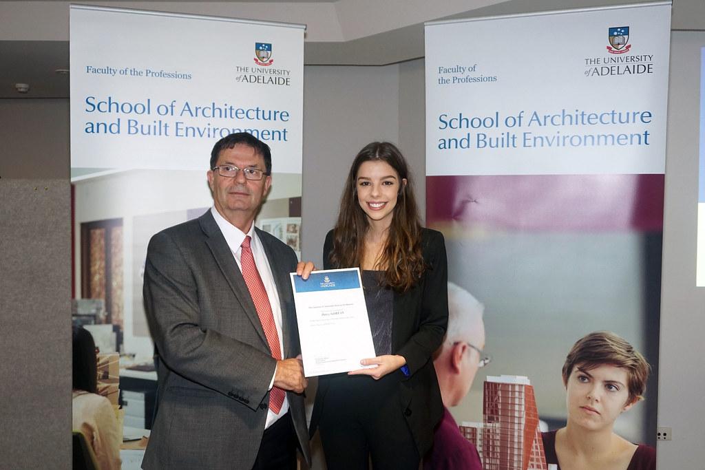 2016 Winner: Darcy Goryan - Presented by Prof George Zillante (Head of School)