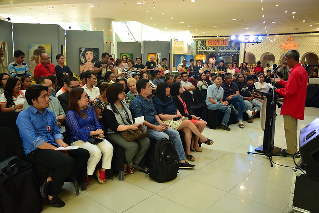 Audience and guests at the exhibit opening at SM Dasmarinas, Cavite