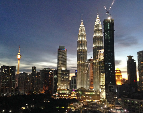 View of Petronas Twin Towers from Karine and Willy's apartment | by eomurdy