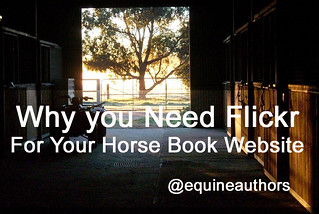Why you Need Flickr for your Horse Book Website @equineauthors