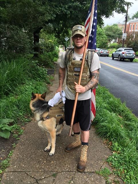 Vet walks for fallen comrades