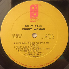 BILLY PAUL:EBONY WOMAN(LABEL SIDE-B)