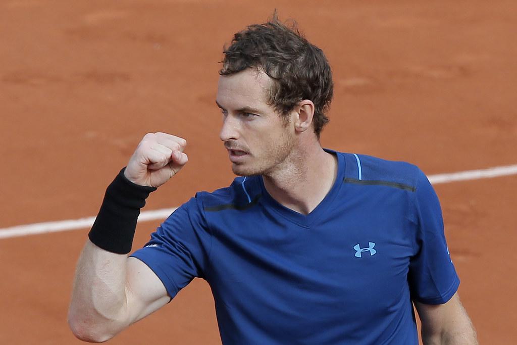世界球王Andy Murray直落3晉級法網男單8強。(達志影像資料照)
