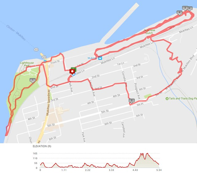Today's awesome walk, 5.55 miles in 1:48, 11,966 steps, 284ft gain