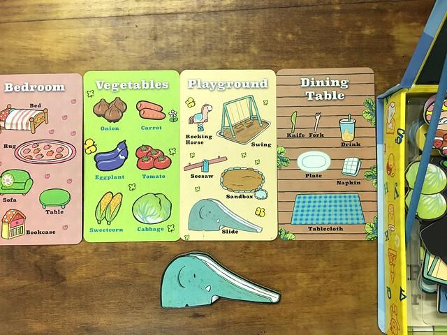 四張單字學習卡,不學單字拿來玩配對遊戲也不錯@小豬乖乖的歡樂遊戲寶盒