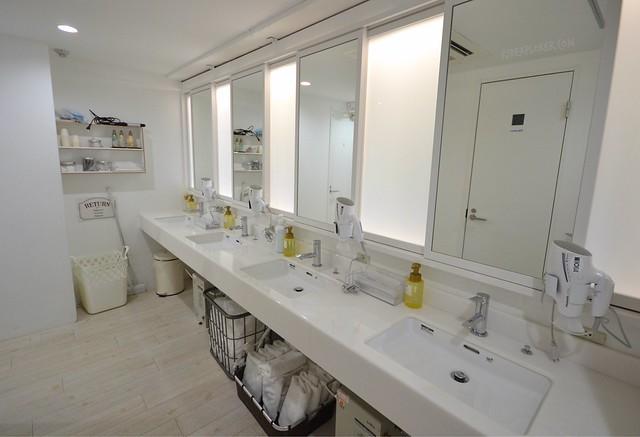 the dorm hostel osaka toilet and sink area