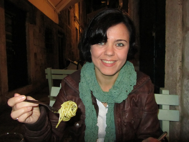Eating Pesto in Dubrovnik