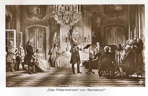 Otto Gebühr, Margarete Schön and Olga Engl in Das Flötenkonzert von Sanssouci (1930)