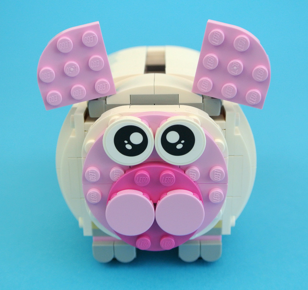 Review 40251 mini piggy bank brickset lego set guide for Mini piggy banks