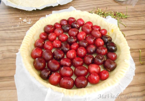 tarte aux cerises sans gluten sans lactose