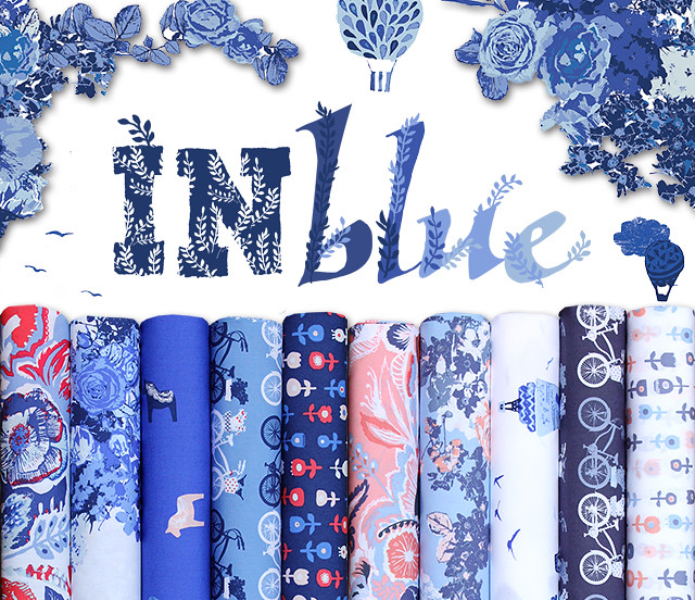 Art Gallery Fabrics Inblue Collection by Katarina Roccella