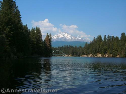 Views across Lake Siskiyou toward Mt. Shasta, Shasta-Trinity National Forest, California