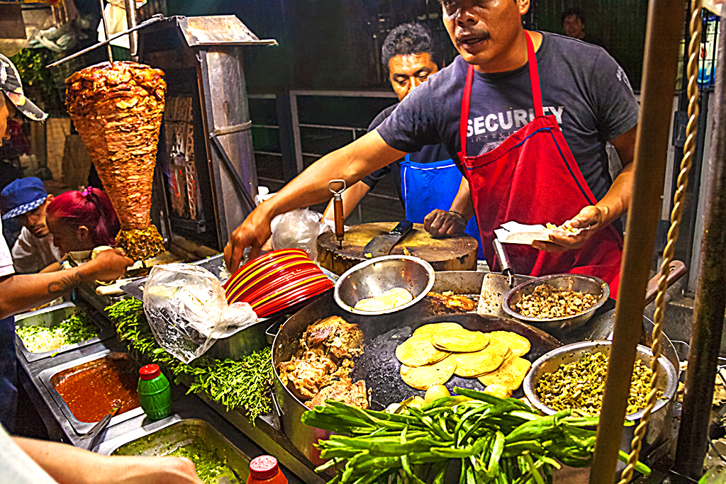 Taco vendor--Mexico City